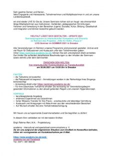 thumbnail of Seminar in Kooperation academy – intercultural and specialized communications e. V
